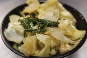 Saute Cabbage & Kale